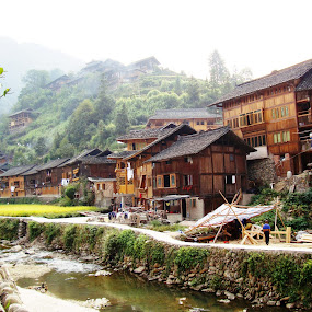Kaili, historic village by Ilse Gibson - Buildings & Architecture Homes ( kaili, historic site, guizhou, ancient village, china,  )