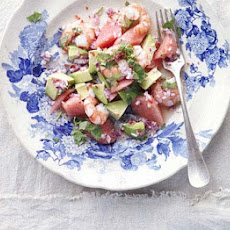 Watermelon, Prawn & Avocado Salad