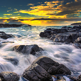 The Rocks by Surya Fajri - Landscapes Sunsets & Sunrises ( canon, kiama, cathedralrocks, australia, lanscape, nsw, sunrise )