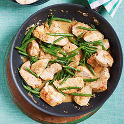 Creamy Dijon-Tarragon Chicken with Rice Pilaf