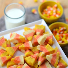Candy Corn Cookie Bites