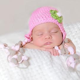 Too Cute by Helena Lindgren - Babies & Children Babies ( baby newborn cute pink hat )