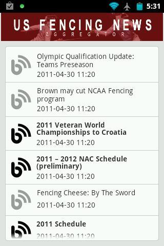 US Fencing News