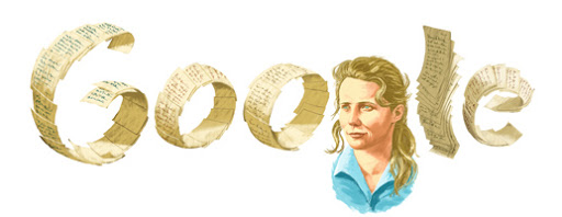 Google Doodle Agnieszka Osiecka's 77th Birthday (Poland)