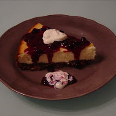 Blueberry Almond Cheesecake