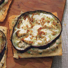Open-Face Creamy Eggplant Sandwiches
