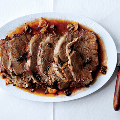 Lamb Pot Roast with Oranges and Olives