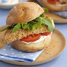 Crisp Chicken Burgers With Lemon Mayo