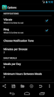 Screenshot of my Diet Journal