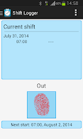 Screenshot of Shift Logger - Working hours