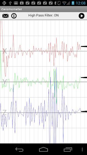 地震計アプリ - iSeismometer