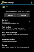 Screenshot of SMS Backup +
