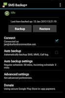 Screenshot of SMS Backup +