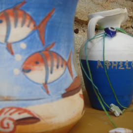 by Marjana Tole - Artistic Objects Cups, Plates & Utensils ( fish, nautica, greece, beach )