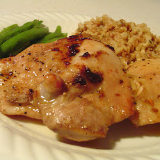 Maple Glazed Chicken Thighs