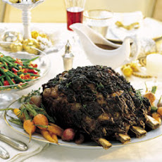 Standing Rib Roast with Rosemary-Thyme Crust