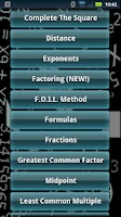 Screenshot of Math Algebra Solver Calculator