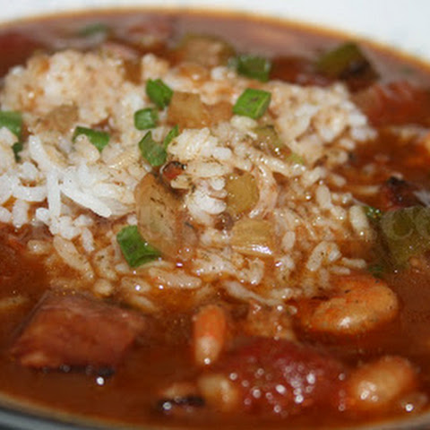 Shrimp and Andouille Gumbo with Okra