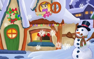 Screenshot of Kids Christmas Snow Globe