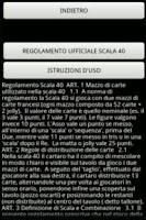 Screenshot of Scala40 Segnapunti