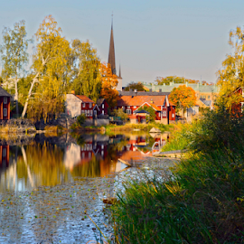 At the water  by Stefan Pettersson - Buildings & Architecture Homes ( water, waterscape, beautiful, town, view )