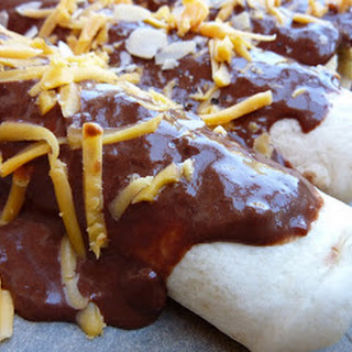 Chicken Enchiladas with Chocolate Chili Sauce