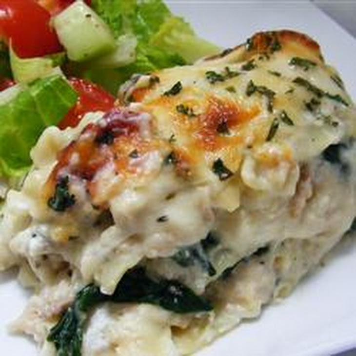 White Cheese Chicken Lasagna Recipe | Yummly