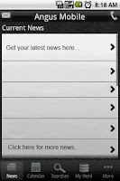 Screenshot of Angus Mobile