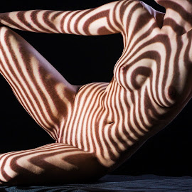 Shapes by Todor Lichev - Nudes & Boudoir Artistic Nude ( shadow & stripes, people, maria nikolova )