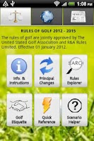 Screenshot of Golf Rules Lite