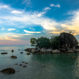 The Love Island by Chin Fei Ng - Landscapes Travel ( island; sea; sunset; sky; cloud; stone )