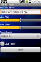 Screenshot of Text To Speech