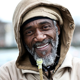 Happiness  by Louis Agace - People Portraits of Men ( south bank, london, happy, smile,  )