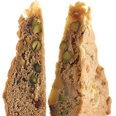 Pear, Pistachio, and Ginger Blondies
