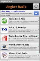 Screenshot of Angkor Radio