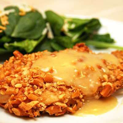 Honey Dijon Pretzel Chicken
