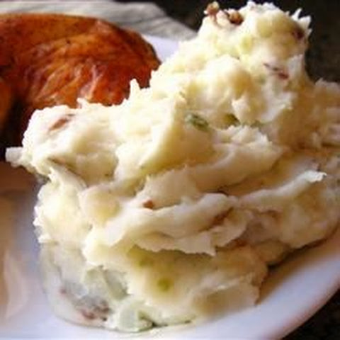 Red Garlic Mashed Potatoes