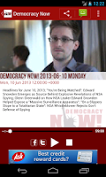 Screenshot of Democracy Now!