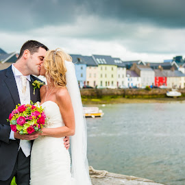 The Long Walk, Galway by Klickapic Cork - Wedding Bride & Groom ( wedding, galway, bride, groom )