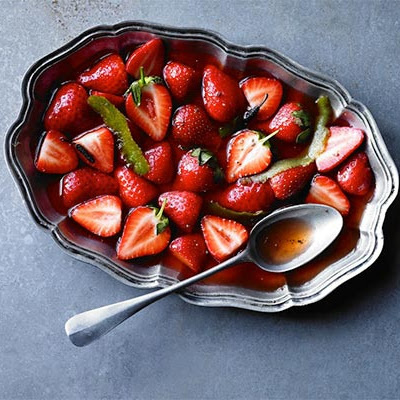 Strawberries With Lime & Long Pepper Syrup