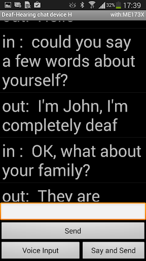 Deaf - Hearing chat device H - screenshot