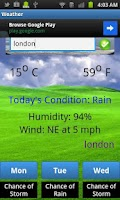Screenshot of City Weather Latest
