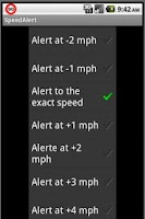 Screenshot of Speed Alert Demo