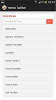 Screenshot of Binlerce Yemek Tarifleri