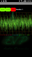 Screenshot of EVP Recorder with detector.