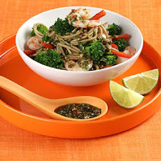 Soba Noodles With Broccoli, Prawns & Sweet Soy Dressing