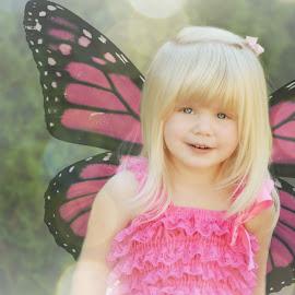 fly little butterfly  by Tristen Leck - Babies & Children Child Portraits ( photoshop art, butterfly, girl, sweetheart, fairytale,  )