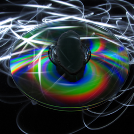 CD and Rock by Johan Svensson - Abstract Light Painting