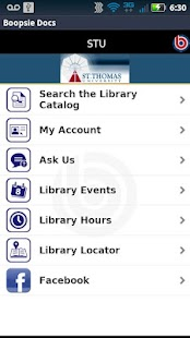 St. Thomas University Library - screenshot