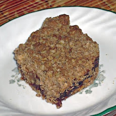 Date and Cherry Oatmeal Squares